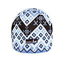 SAMII Jacquard Argyle Knit Beanie Skull Cap Hat-White (0012) (Start From 20 Units)-Free Shipping