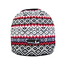 SAMII Black White Jacquard Stripe Knit Beanie Hat / Black (0011) (Start From 20 Units)-Free Shipping