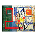 Handmade Modern Art Oil Painting on Canvas With Wood Frame/ High quality (ZS-058)-Free Shipping