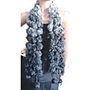 konijn haar boa shawl sjaal bal pom poms wrap (HSC-013) (vanaf 50 stuks)-gratis verzending