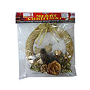 Artificial Christmas Wreath with Flowers (SDBG037) (Start From 100 Units)-Free Shipping