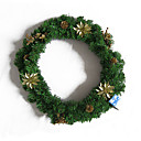 Artificial Christmas Wreath with Pine Cone (SDBG012) (Start From 20 Units)-Free Shipping
