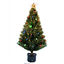Decorated LED Pine Fiber Potted Christmas Tree,120CM (GQL-001)(Start From 5 Units)-Free Shipping