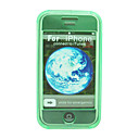Crystal Plastic Phone Cover Case for Apple iPhone Green(ip027) -Free Shipping by Air Mail