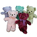 1 PC Plush Bear With Ribbon (MR019) (Start From 5 Units)-Free Shipping