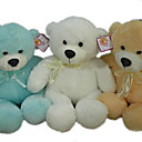 1 PC Plush Bear With Ribbon --Blue / Beige / White (MR033)