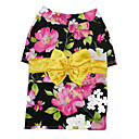 Beautiful Floral Kimono Dog Dress -Black (BV062-BLACK)