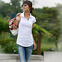 Jersey-knit Tunic-length Tee White (XJQZ001)