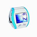 Q007 Watch Cell Phone With Bluetooth & Camera - White with Blue