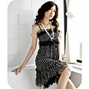 GIRLS Polka-Dot Belted Chiffon Dress Black (XJQZ010) (Start From 10 Units) Free Shipping