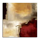 Handmade Oil Painting - Crimson Accent 24&quot; x 24&quot; (SZH269)