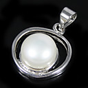 Sterling Silver Blister White 8.5 -9mm FW Pearl Pendant (XZZ056) (Start from 10 units) Free shipping