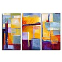 pittura a olio handmade - profonda vista - 3 pc tela set (szh318)