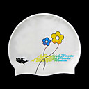 Brand New SPURT White Silicone Swim Swimming Caps (KYF032)