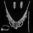 Brilliant Wedding Jewelry 4 piece Set (TYPJ012) (Start From 10 Units) Free Shipping