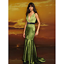 Trumpet V-neck Court Train Taffeta Prom / Evening Dress (HSX316) (Start From 3 Units) Free Shipping