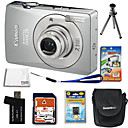 Canon PowerShot SD750/IXUS 75 Silver 7.1MP Digital Camera + 4GB SD + Extra Battery + 6Bonus (SZW550)