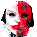 Scary Latex Halloween Mask with Hair For Adult (SZWS016)