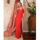 Column Halter Floor-length Satiny Prom / Evening Dress (HSX790) (Start From 3 Units) Free Shipping