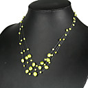 Beautiful GreenYellow Pearl Necklace (LSP032)