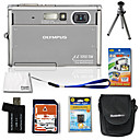 Olympus Mju 1050 SW 10.7MP Weatherproof Digital Camera with 2.7-inch LCD + 2GB Xd + Battery + 6 Bonu