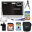 Nikon Coolpix S52c 9.3mp wifi-Digitalkamera mit 3,0-Zoll-LCD + 4GB SD + Akku + 6bonus (szw718)