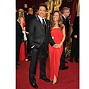 der 81. Oscar Robert Downey jr. einen Knopf am Revers Gipfel Smoking Anzug / Jacke und Hose (oscm012)