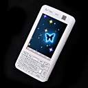 V5000 Dual Card Touch Screen Cell Phone White
