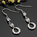 Sterling Silver Alluring CZ Earring Drop-sterling Silver Earring e22798 (SZY1416)