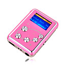 4gb mini mp3 players com alto-falante rosa (szm201)