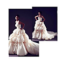 Ball Gown Strapless Royal Length Train Taffeta Wedding Dresses for Bride 2009 Style (WGY0064)