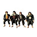 The Lord of The Rings The Fellowship of the Ring 4 PCS Hobbits Action Figure