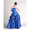 Spring 2009 RoyalBlue Ball-gown Floor-length Satin Maxi Prom Dress (HSX160) Free Shipping