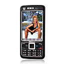 C1000 Dual Card Quad Band Dual Camera TV(SECAM) Ultra-thin Cell Phone Black