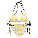 Free Shipping Hot Popular Yellow Two Piece Bikini Swimwear Swimsuit (Start from 10 Units) (KFP023)