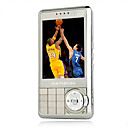 T1000i Quad-Band Zooming Lens  TV Function Dual Card Mobile Phone Silver