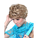 Capless Short Synthetic Blonde Curly Hair Wig