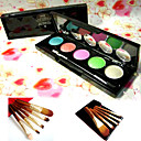 Free Professional Cosmetic Brush Set + 5 Colors Eyeshadow Palette 2#