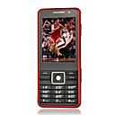KENXINDA X1000 Dual Card Quad Band Dual Camera TV Function Ultra-thin Flat Touch Screen Cell Phone Black&Red