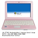 "mini-netbook-laptop 10,2 átomo ""TFT-N270 1.6G-2GB DDR2-presentes-320g-livres Bluetooth (smq2275)"