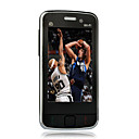 M001 Quad Band Dual Card WiFi TV Touch Screen Cell Phones Black+2GB TF Card
