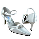 Top Quality Satin Upper High Heel Closed-toes With Rhinestone Wedding Bridal Shoes(AF015)