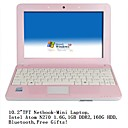 Netbook-Mini Laptop-10.2&quot;TFT-Intel Atom N270 1.6G-1GB DDR2-160G-Bluetooth-Free Gifts (SMQ2273)