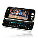 n97c quad estilo de banda doble tarjeta sim bluetooth doble pantalla de la cmara tctil tv diapositiva telfono celular negro precio original $ 152.9