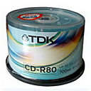 50 TDK CD-R 52x Blank Media(700MB)(SMQ2736)