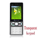 N68 Quad Band Dual Card Transparent Keyboard Bluetooth Touch Screen FM Cell Phone Gray (2GB TF Card)