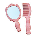 Pink Rose Cosmetic Mirror and Comb