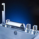5-pc Chrome Widespread Bathtub Faucet (HY3081C)