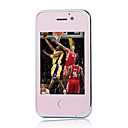 ZOHO V706 Dual Card Quad Band Dual Camera JAVA TV WIFI Ultra Thin Flat Touch Cell Phone Pink (2GB TF Card)