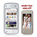 Mini N97 Dual Card Quad Band Dual Camera TV Function Flat Touch Screen Cell Phone Black (Start From 5 Units)